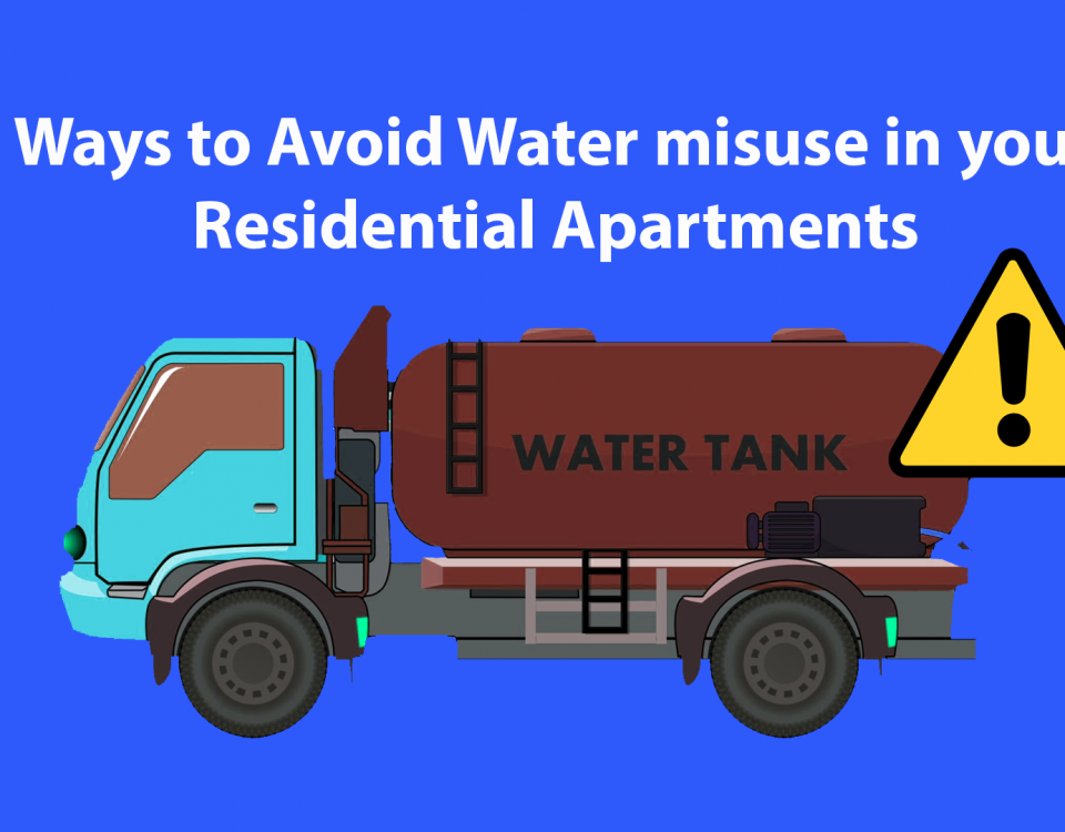 Ways to Avoid Water misuse in your Residential Apartments