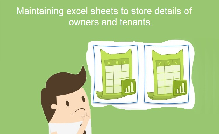 Maintaining the excel sheets to keep records in apartment complexes