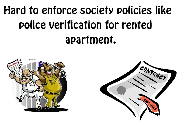 Enforcing new policies to society and apartment members