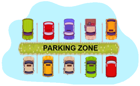 vehicle and parking zone